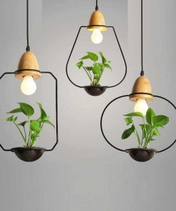 Stencil Planter Pendant Light