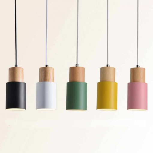 Cylindrical Painted Pendant Light