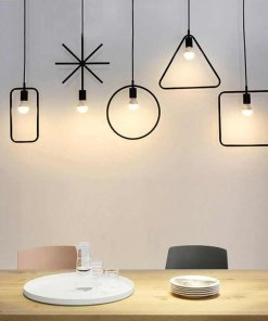 Stencil Pendant Light